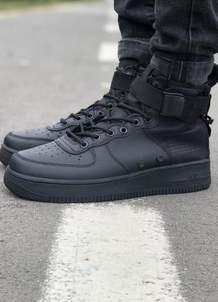 "Шикарные кроссовки 🍒nike sf air force 1 mid ""black""🍒"