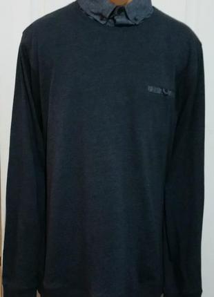 Джемпер, свитер с верхом от рубашки