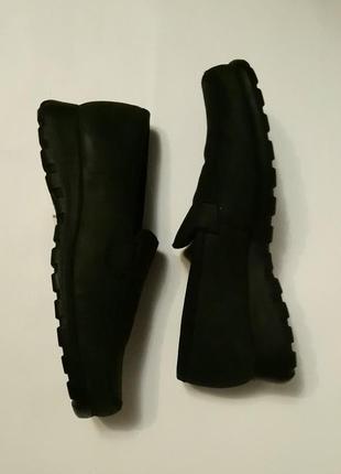Мокасины-туфли . нубук натуральный .
