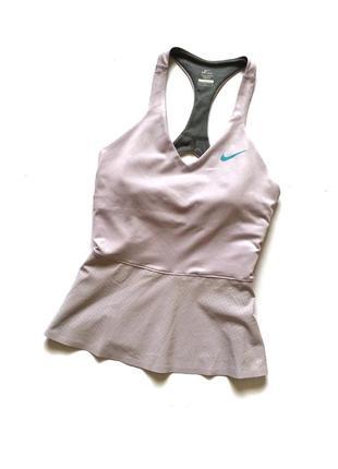 Лавандовая майка с топом nike оригинал, блуза, футболка, топ найк