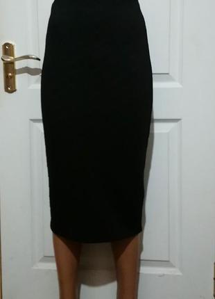 Длинная фактурная юбка карандаш