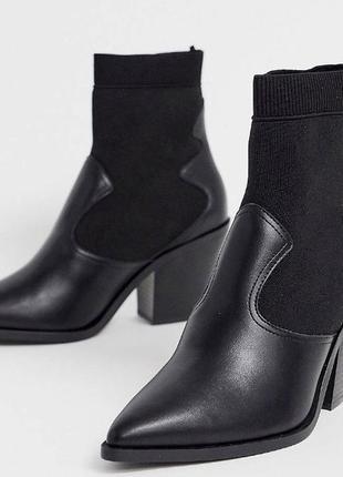 Стильные ботинки ботильоны чулки казаки в стиле zara