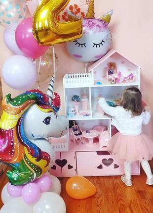 ЭКО домик для кукол лол Барби Кукольный домик с ящиком