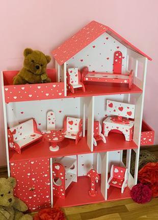Кукольный домик И Мебель Домик для кукол Барби Лол