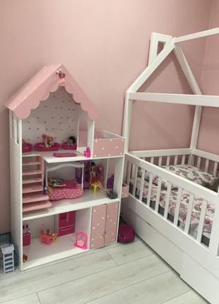Большой Кукольный домик для Барби лол монстер хай Винкс