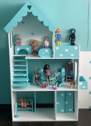 Большой Кукольный домик для Барби Лол Дом для кукол lol Barbie