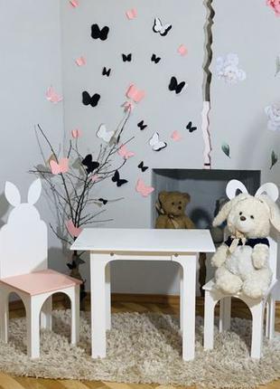 Детский стол (столик) и 2 стула (стульчика) Детская мебель,парта!