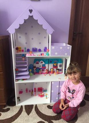 Кукольный ЭКО домик для барби лол Дом для кукол Ляльковий буди...