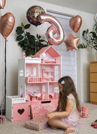 Кукольный домик для Барби лол Дворец дом для кукол