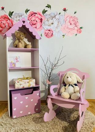 Домик-стеллаж для кукол и книг Кукольный домик Дом для кукол Б...