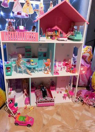 Развивающий Кукольный ЭКО домик для Барби Монстер Хай дом для ...