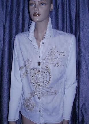 Рубашка с натуральными перламутровыми пуговицами