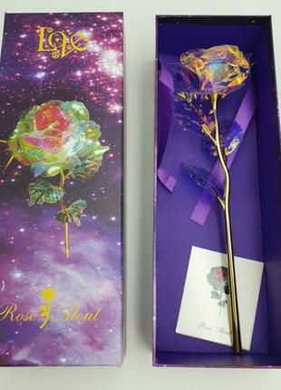 Светящаяся Роза 25 см в подарочной коробке романтический подарок