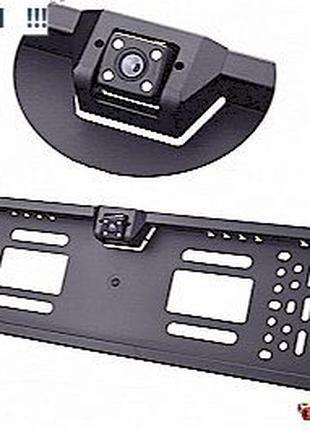 Камера заднего вида в авто номерной рамке с 4 LED подсветкой А...