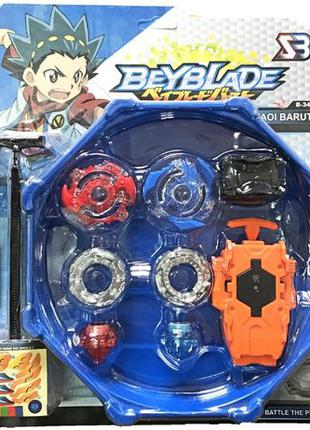 Набор Beyblade БейБлейд 2 Бея запускатель и Арена Baruto B34 2...