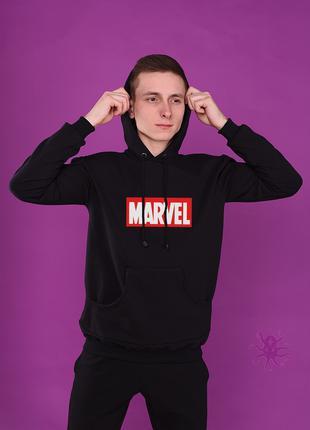 Мужская кофта-худи, кенгурушка, толстовка с капюшоном Marvel
