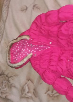 Куртка на девочку 3-4 года зима- весна- осень