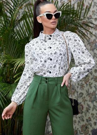 Шикарная весенняя блуза блузка в цветы