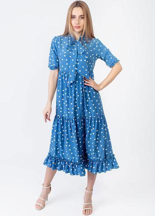 Платье миди рюши  2951