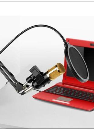 Профессиональный студийный микрофон Music D.J. M800U со стойко...