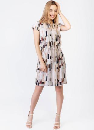 Платье легкое штапельное с v-вырезом 2971