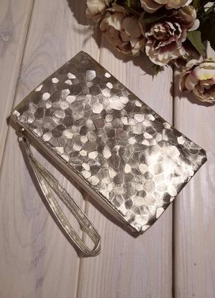 Золото клатч кошелек косметичка сумка женская на молнии с петл...