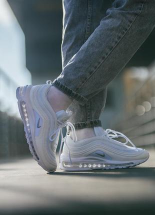 Nike air max 97 white женские кроссовки найк белые
