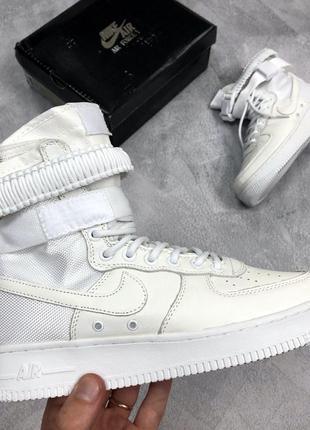 Nike air force high special field white, женские высокие кросс...