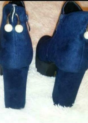 Замшевые ботинки размер 38