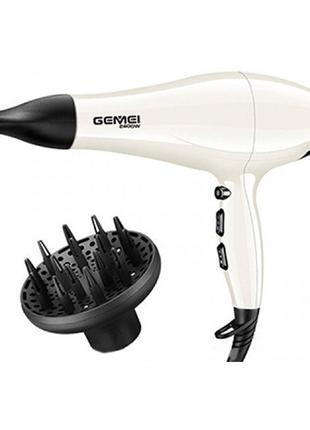Профессиональный фен для волос Gemei GM-105 2400w Лучший подарок