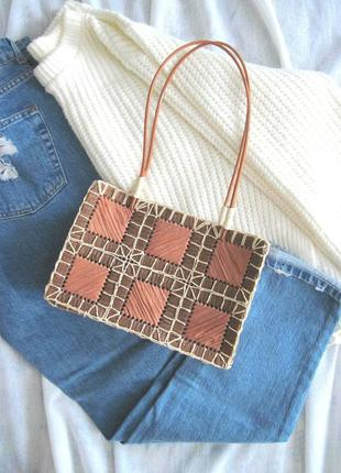 Летняя 🌾 плетеная соломенная🌾 сумочка для богемной модницы misako