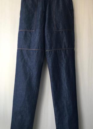 Легкие штаны джогеры Love Moschino / S / лён, хлопок
