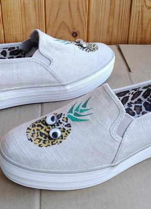Новые стильные мокасины удобные слипоны кеды летние туфли крип...