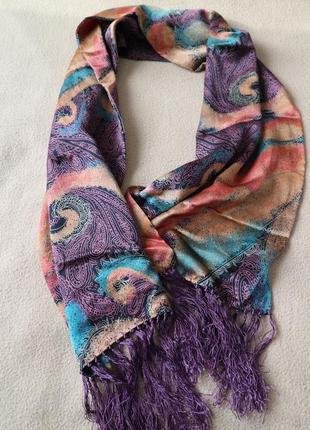 Шелковый шарф в восточном стиле