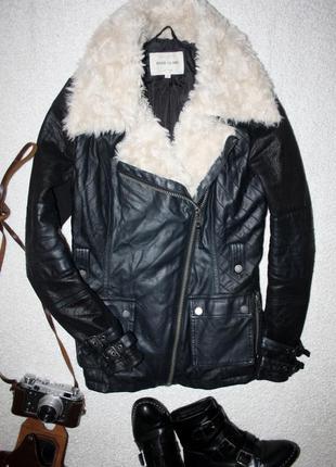 Пальто косуха из эко кожи. деми