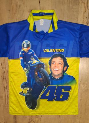 Футболка поло мотогонщика Valentino Rossi (Made in Italy) раз.XL