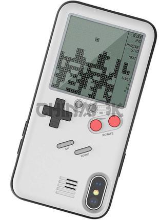 Чехол игровой Tetris для iPhone X Белый/White