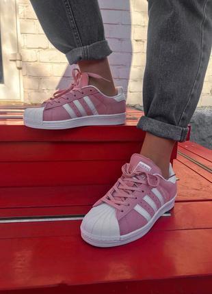Adidas superstar pink женские кроссовки адидас розовые