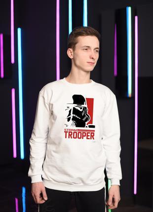 Мужской белый свитшот, толстовка, мужская кофта Star Wars
