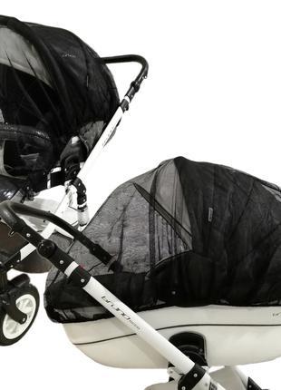 Москитная сетка Черная на коляску большой размер Польша