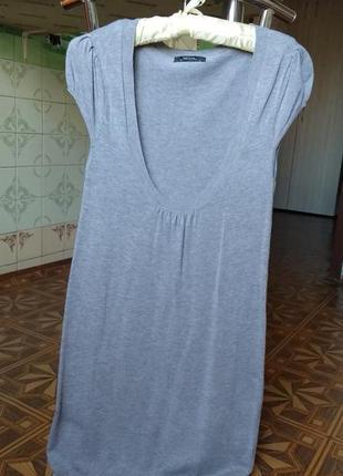 Распродажа 🔥 серая туника платье