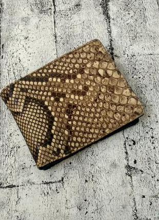 Кошелек/бумажник  из натуральной кожи змеи