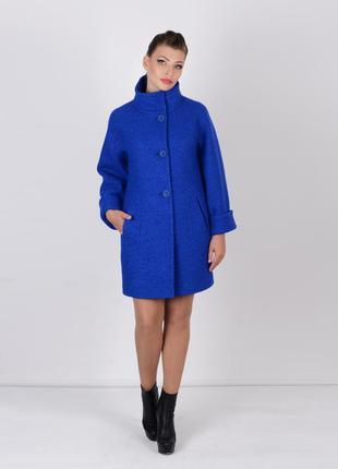 Скидка! стильное женское синее весеннее пальто oversize