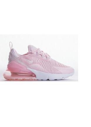 Женские кроссовки найк nike air max 270 pink white розовые