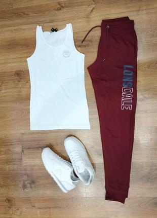 Спортивные штаны lonsdale с высокой посадкой
