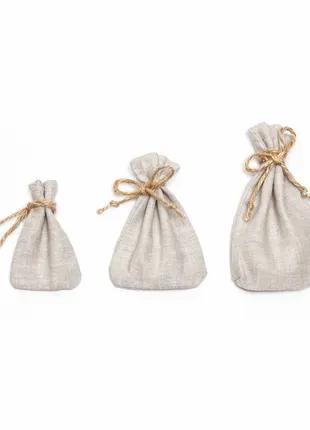 Льняные декоративные мешочки