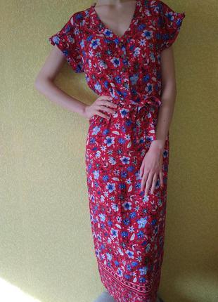 Creeks платье макси в цветочный принт, яркое платье, сарафан, ...