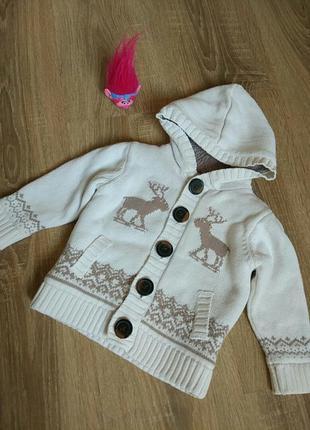 Кофта на флисе куртка на весну на мальчика или девочку 9 мес.