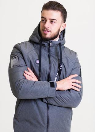 Весенняя мужская куртка серая (42-50рр)