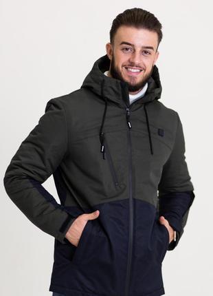 Весенняя мужская куртка серая (46-54рр)